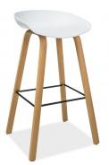 Barová židle STING buk/bílá