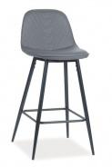 Barová čalouněná židle TEO H-1 šedá