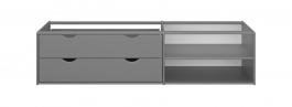 Úložný box se šuplíky pod postel Dany - tmavě šedá