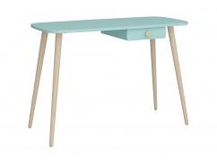 Psací stůl Mokiana - mintový/masiv