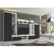 Obývací stěna, černá / bílá, LIBERTY