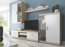*Obývací stěna DUO sonoma/bílá