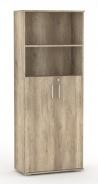 Široká kombinovaná skříňka REA Office S50+D3(2ks) - dub canyon - výběr dvířek
