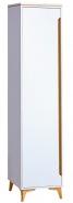 Jednodveřová šatní skříň Naira - bílá/jasan
