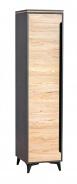 Jednodveřová šatní skříň Naira - fresco/jasan