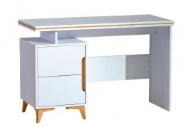 Psací stůl Naira - bílá/jasan