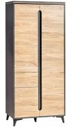 Dvoudveřová šatní skříň Naira - fresco/jasan