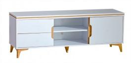 Televizní stolek Naira - bílá/jasan