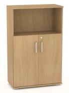 Široká kombinovaná skříňka REA Office S30 + D2 (2ks) - buk - výběr dvířek