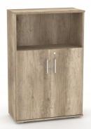 Široká kombinovaná skříňka REA Office S30 + D2 (2ks) - dub canyon - výběr dvířek