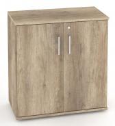 Nízká dvéřová skříňka REA Office S20 + D2 (2ks) - dub canyon - výběr dvířek