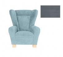 Komfortní relaxační křeslo typu ušák Ingrid - šedá 2751