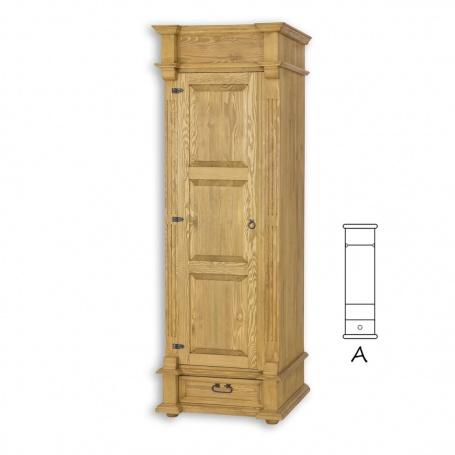Úzká skříň s šatní tyčí selská SZY05A