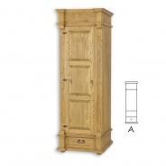 Úzká skříň s šatní tyčí selská SZY05A - výběr moření