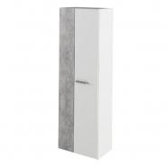 Skříň Sima -  bílá/beton