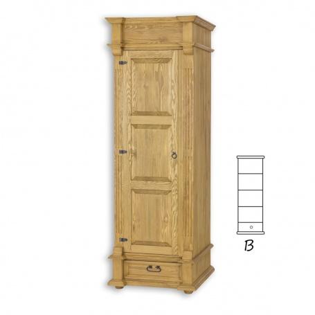 Úzká skříň policová selská SZY 05B