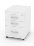 Kontejner s kolečky REA Office 61 - bílá