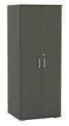 Šatní skříň REA Office - graphite - výběr dvířek