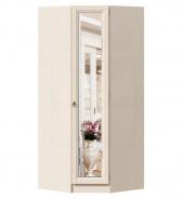 Rohová šatní skříň se zrcadlem Annie - dub provence