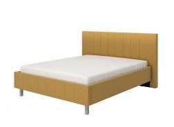 Manželská postel 160x200cm Camilla – žlutá/šedé nohy