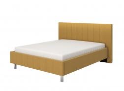 Manželská postel 160x200cm Camilla – žlutá/chromované nohy