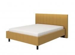 Manželská postel 160x200cm Camilla – žlutá/černé nohy