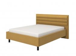 Manželská postel 160x200cm Corey - žlutá/černé nohy