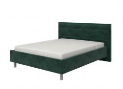 Manželská postel 160x200cm Corey - tm. zelená/chromované nohy