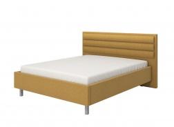 Manželská postel 160x200cm Corey - žlutá/šedé nohy