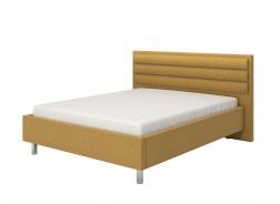 Manželská postel 160x200cm Corey - žlutá/chromované nohy