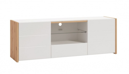 TV stolek Marco - bílá/dub artisan