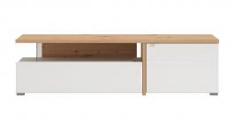 Televizní stolek Drago - dub artisan/bílá