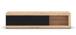 Televizní stolek Ronja 180cm - dub artisan/černá