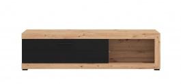 Televizní stolek Ronja - dub artisan/černá