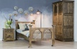 Masivní selská postel ACC08 v rustikálním stylu