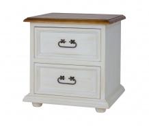 Dřevěný noční stolek se šuplíky COM 112 SLIM - výběr moření