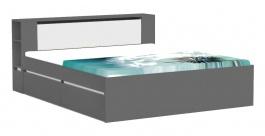 Manželská postel REA Amy 31/180 - graphite - výběr čela a lišt