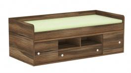 Dětská postel REA Poppo 90x200cm - ořech rockpile - výběr čílek