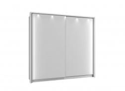 Rám k šatní skříni 220 s osvětlením - bílá
