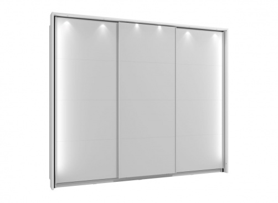 Rám k šatní skříni 270 s osvětlením - bílá