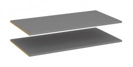 Set 2ks polic ke skříni Simply 2D - šedá