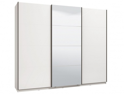 Šatní skříň s posuvnými dveřmi Aubrey 270 - bílá/lesk