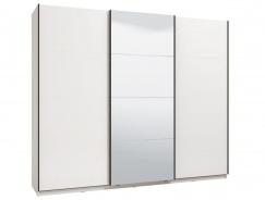 Šatní skříň s posuvnými dveřmi Aubrey - bílá/lesk