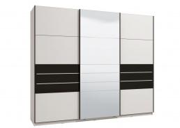 Skříň s posuvnými dveřmi Marat 270 - bílá/černá
