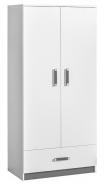 Šatní skříň TRAFICO 1 bílá/popel