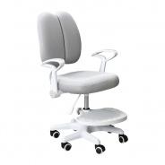 Rostoucí židle s podnoží a šlemi ANAIS - šedá/bílá