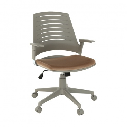 Kancelářská židle DARIUS - šedá/hnědá