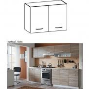 Skříňka do kuchyně, horní, dub sonoma / bílá, Cyra NEW G 60