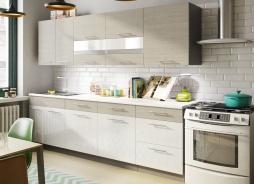 Kuchyně MIA 260 s D60S3 picard/bílý lesk