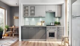 Kuchyně PAULA 260 s WS80 šedá/mocca